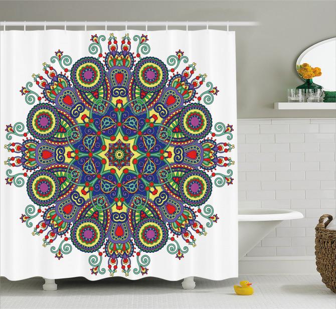Symbol Of Lotus Flower Shower Curtain