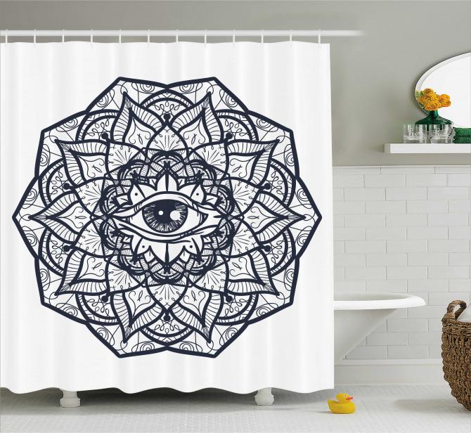 Ethnic Mandala Tribal Shower Curtain