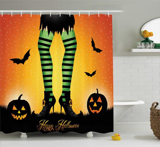 Cartoon Witch Shower Curtain