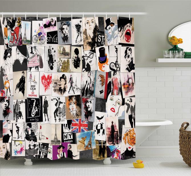 Moda Severler için Duş Perdesi Şık Tasarım Trend