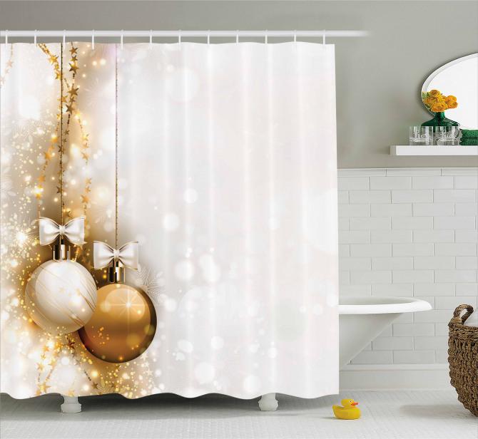New Years Ribbon Shower Curtain