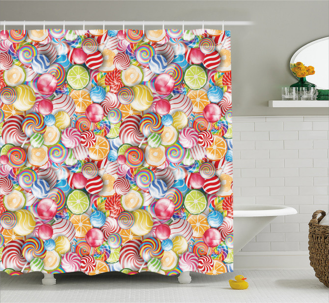 Sweet Candy Store Shower Curtain