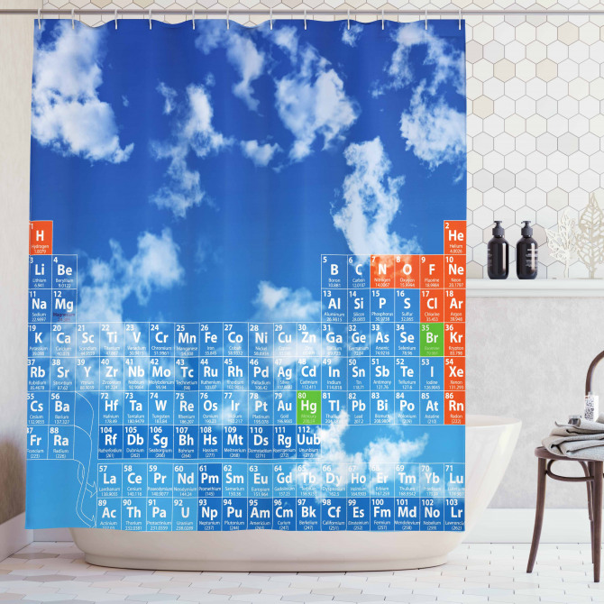 Clouds And Chemistry Shower Curtain