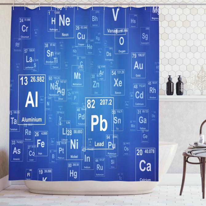 Tv Show Theme Chemistry Shower Curtain