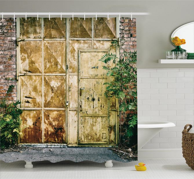 Rustic Brick House Shower Curtain