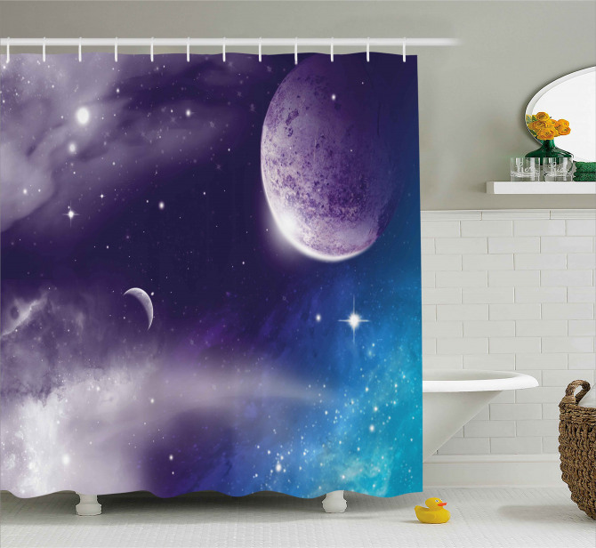 Starry Night Sky Scenery Shower Curtain