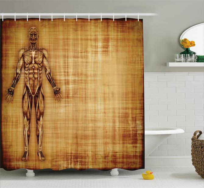 Human Body Style Shower Curtain