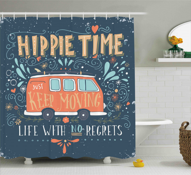 Hippie Inspiring Quote Shower Curtain