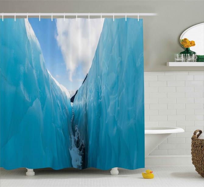 Frozen Ice Mountains Shower Curtain