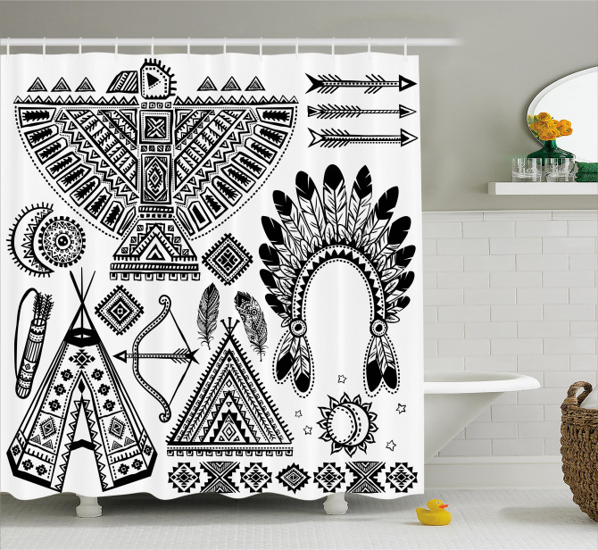 Native American Tribal Shower Curtain