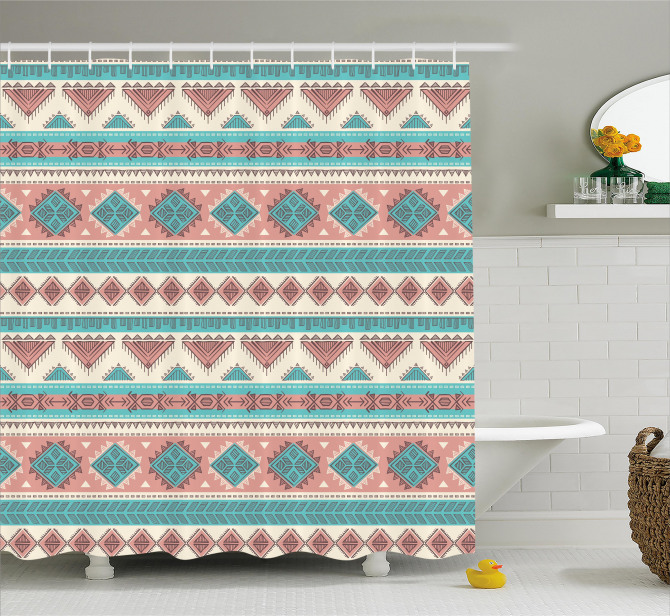 Aztec Art African Style Shower Curtain