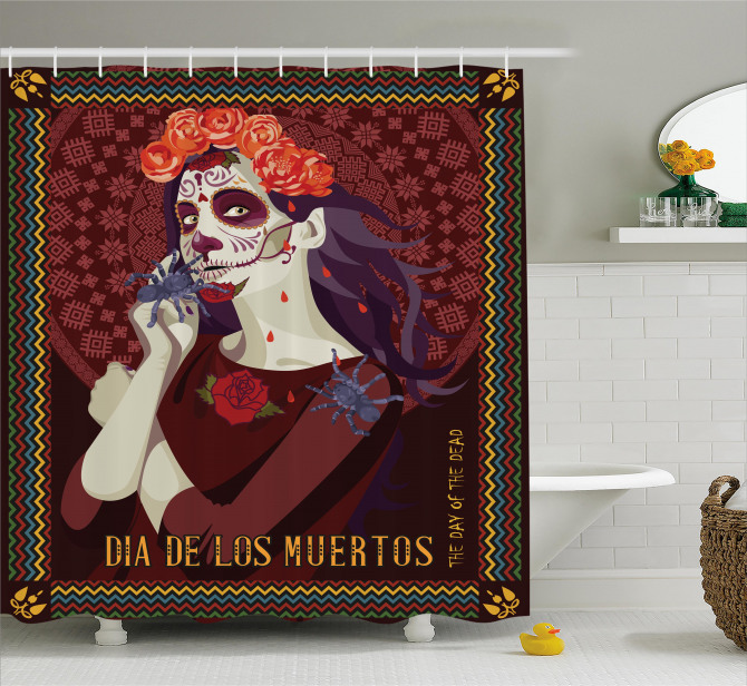 Spanish Festive Art Shower Curtain