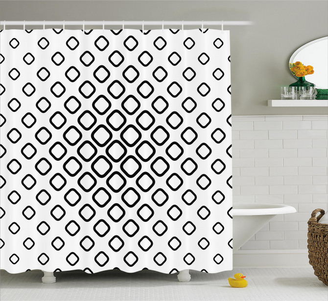 Trippy Fractal Rounds Shower Curtain