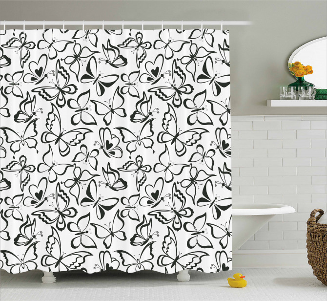 7d6b174388f2b Butterfly and Freedom Shower Curtain