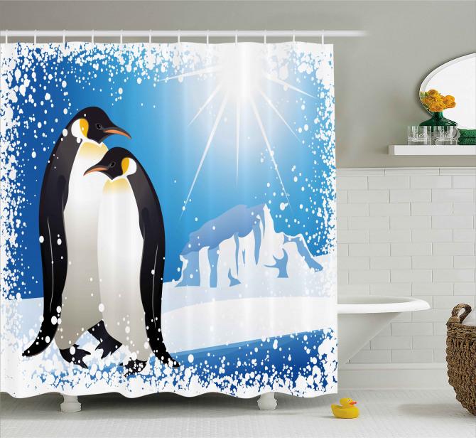 Snowy Frozen Kid Season Shower Curtain