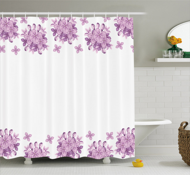 Lilac Flowers Blossoms Shower Curtain