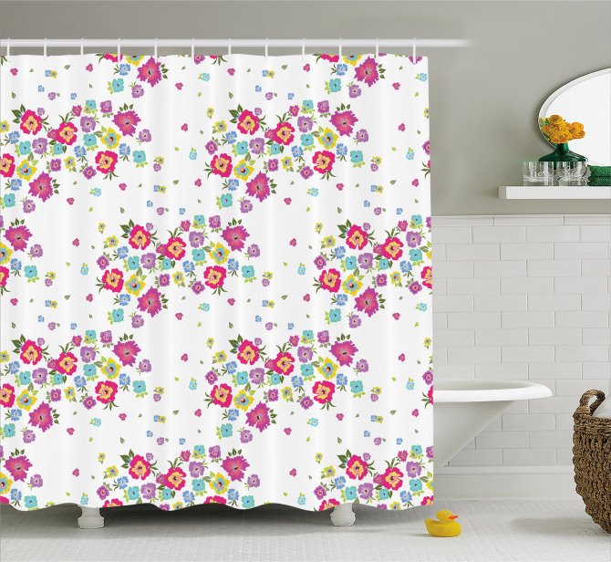 Colorful Spring Poppies Shower Curtain
