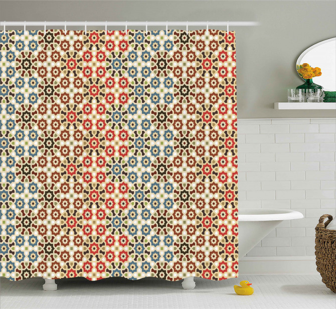 Ethnic Arabic Motifs Shower Curtain