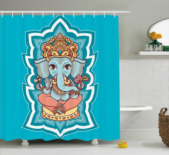 Asian Mandala Shower Curtain