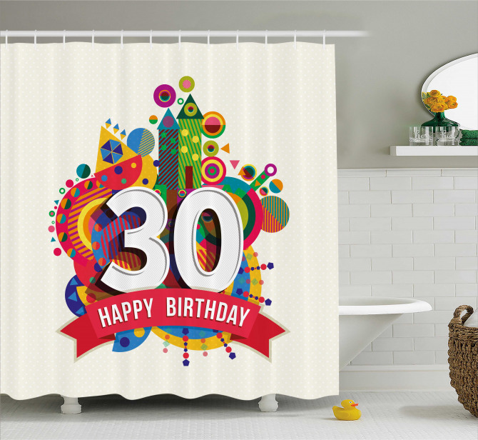 Birthday Vibrant Shower Curtain