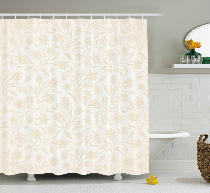 Baroque Blooms Artistic Shower Curtain