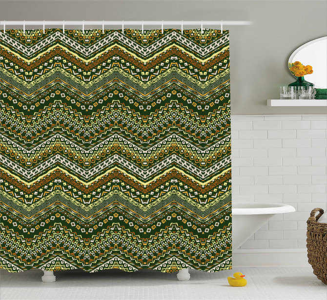 African Style Tribal Shower Curtain