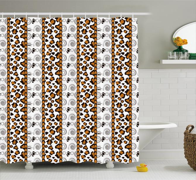 Wild Leopard Animal Print Shower Curtain