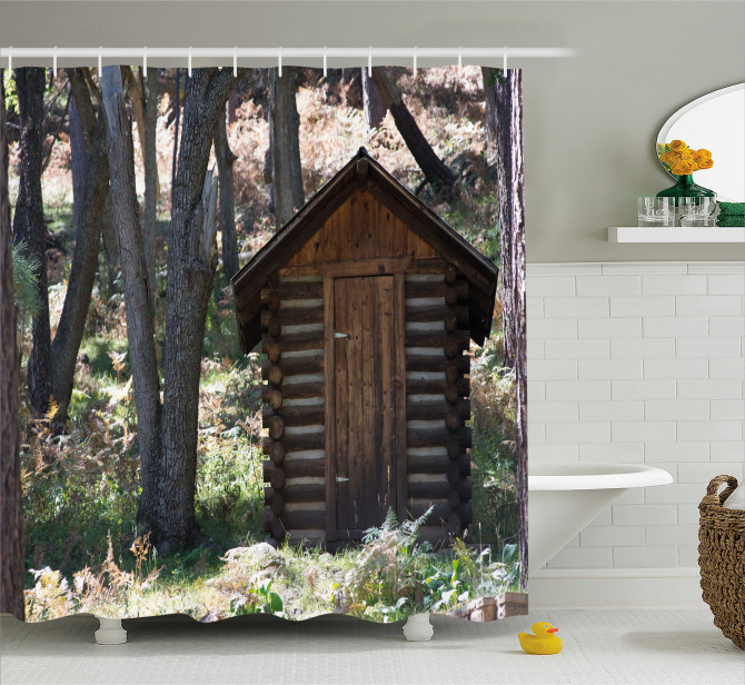 Cottage Spring Woods Shower Curtain