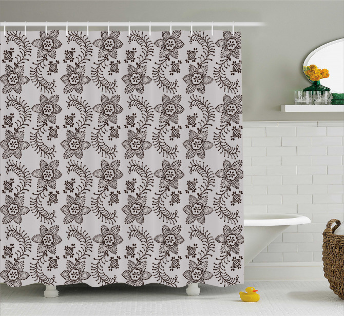 Authentic Russian Boho Shower Curtain