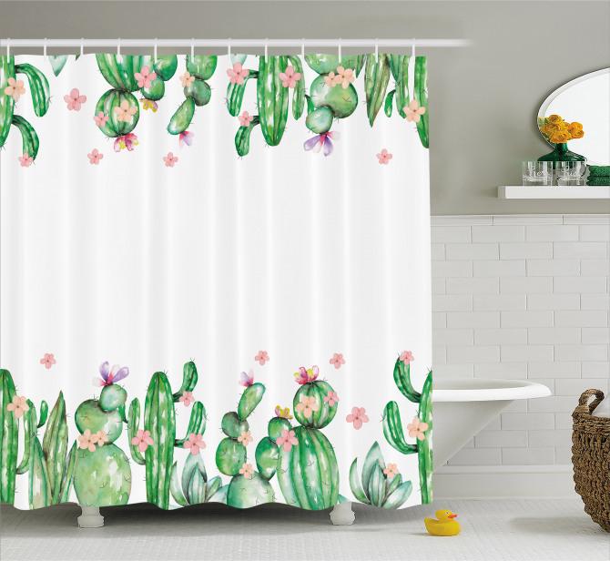 Tender Romantic Blossoms Shower Curtain