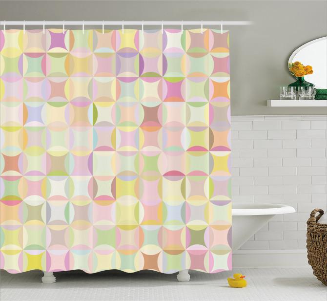 Retro Polka Dots Funky Shower Curtain