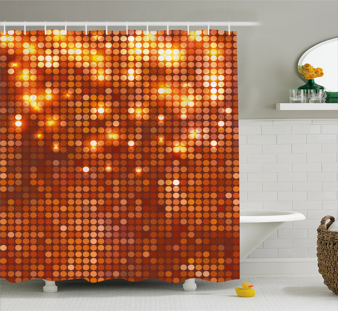 Vivid Dots Mosaic Shower Curtain
