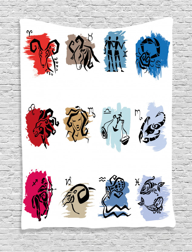 Zodiac Signs Artwork Tapestry