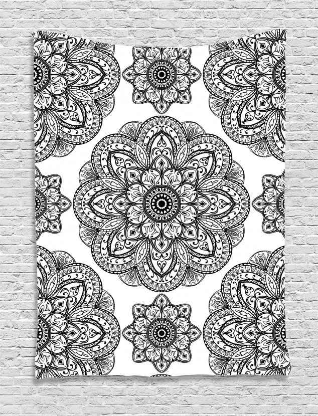 Ornate Mandala Patterns Tapestry