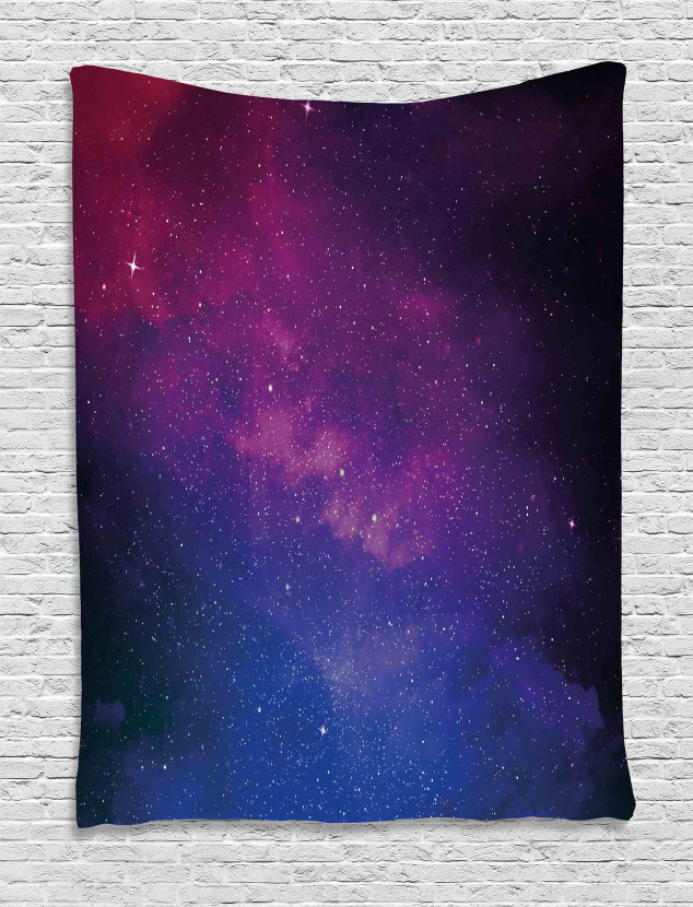 Stardust Space Rainbow Tapestry
