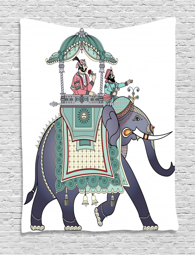 Elephant with Prince Tapestry