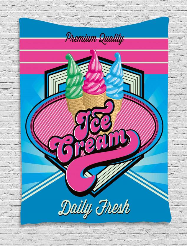 Ice Cream Illustration Tapestry