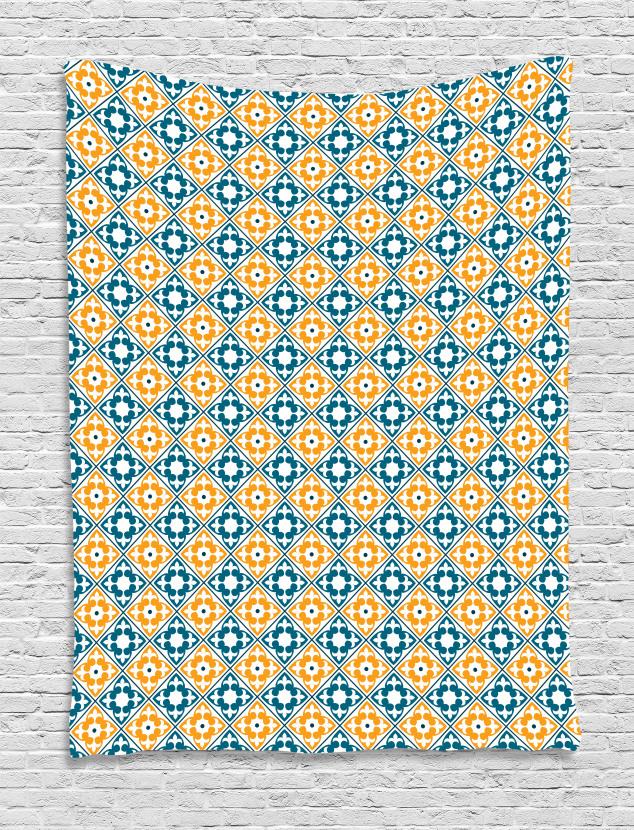 Spanish Azulejo Style Tapestry