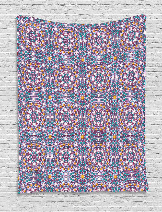 Arabic Star Pattern Tapestry