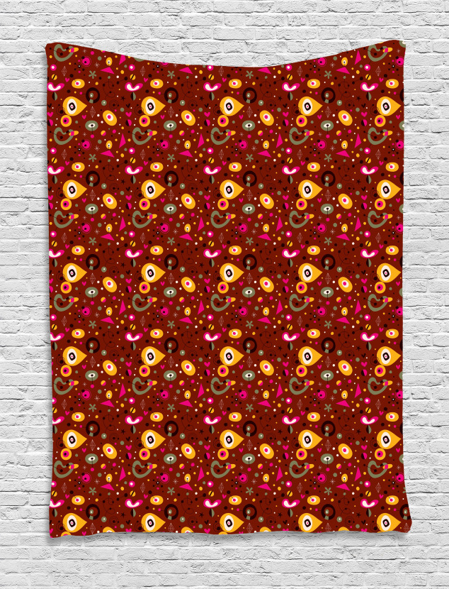b5dd45af932 Colorful Fifties Shapes Tapestry