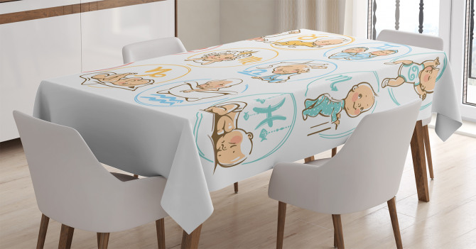 Zodiac Signs Design Tablecloth