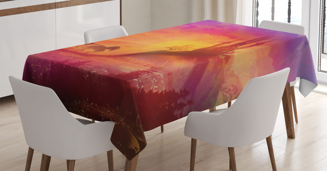 Medieval Castle Kingdom Tablecloth
