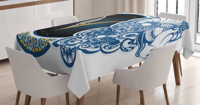 Astrology Aries Sign Tablecloth