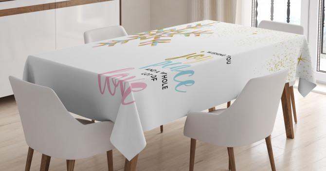 Christmas Snowflake Love Tablecloth