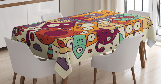 Absurd Doodle Tablecloth