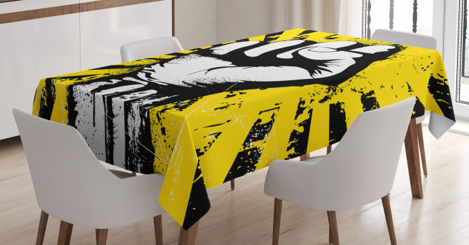 Clenched Fist Tablecloth
