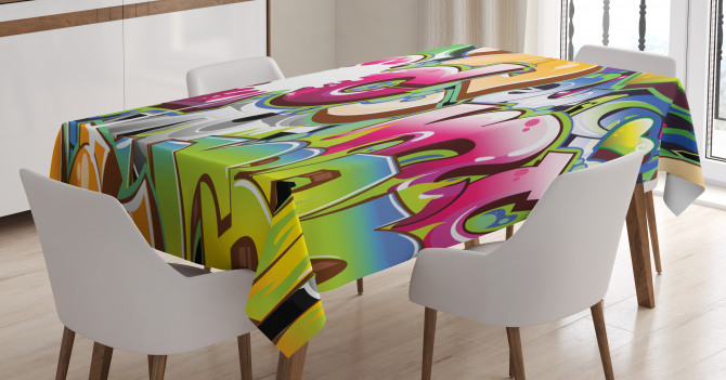 Throwie Style Tablecloth