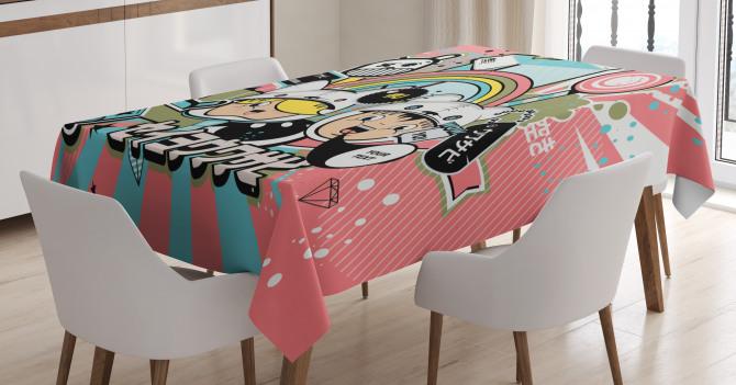 Anime style Tablecloth