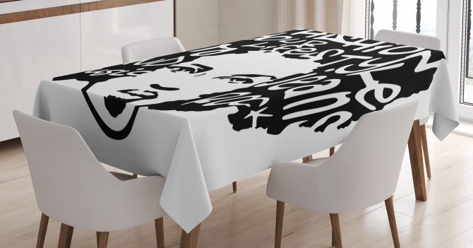 Afro Hair Art Tablecloth
