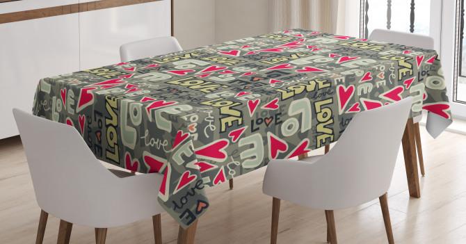 Hearty Love Art Tablecloth